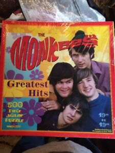 """Vintage The Monkeys Greatest Hits 500 Piece Puzzle 19"""" By 19"""" NIB WOW !!"""