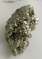 Gorgeous pyrite crystal cluster specimen, Peru 424.7 grams!!! Fools gold! AAA