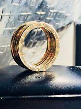 Bulgari BVLGARI B. ZERO ONE 3 Band Anello 750 18 Carati Giallo Oro dimensione 61