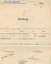 1918, Hungary Naval Document, S.M.Schiff BELLONA cancel