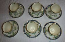 LOT OF 6 VINTAGE ROYAL DOULTON  DEMITASSE CUPS AND SAUCERS