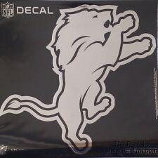 Detroit Lions Large Silver Metallic Vinyl Auto Decal NFL Football