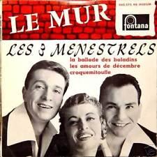 LES 3 MÉNESTRELS Chantent Gilbert Béc FR Press 45 Tours