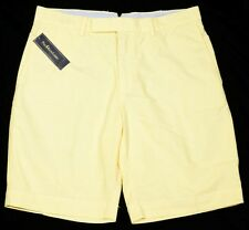 Men's POLO RALPH LAUREN Yellow Oxford Shorts 34 NWT NEW Classic!
