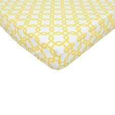 TL Care Golden Yellow Twill Fitted Crib Sheet