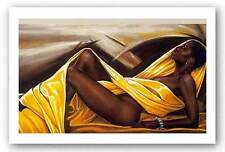 AFRICAN AMERICAN ART PRINT Basking In The Glow Kevin Williams WAK