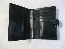 Filofax Leather File Organiser BLACK Pocket Size DIARY NEW 15mm Diameter