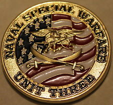 Naval Special Warfare Unit 3 / Three CJSOTF-GCC Navy SEALs Challenge Coin