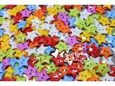 40 Kinderknöpfe Knöpfe Sterne uni 19mm Farbmix #8015