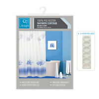 Bathroom Fabric Shower Curtain Curtains With Hooks Machine Washable 180 x 180cm
