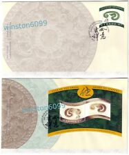 Canada 2001 Zodiac Lunar Year of the Snake, 1v Stamp + MS on 2 FDC (pair)