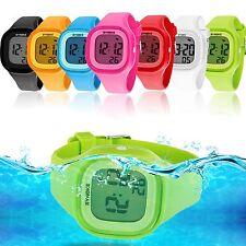 Kids Sport LED Waterproof Rubber Digital Boy's Girl's Stopwatch Date Wrist Watch