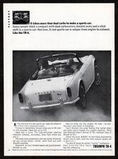 1964 TRIUMPH TR-4 Vintage Original Print AD - White convertible sport car photo