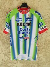 Maillot cycliste KELME COSTA BLANCA 1999 camiseta vintage shirt Eurosport 4 L