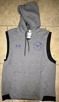 UNDER ARMOUR UA MEN'S X PROJECT ROCK DOUBLE KNIT SLEEVELESS HOODIE LE SIZE XL