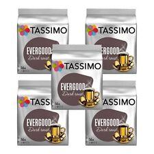 NEW! 5 x Packs Tassimo Evergood Dark Roast T Discs Pods - 80 T Discs 80 Drinks