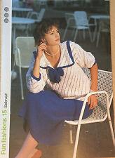 Knitting Pattern Vintage Femmes Jupe & Sailor TOP ORIGINAL 1986 Poppleton