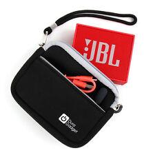 Soft Black Water-Resistant Neoprene Travel Case / Cover for the JBL GO Speaker