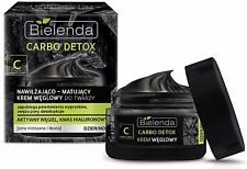 BIELENDA Activated CARBON face cream + Hyaluronic Acid Charcoal detoxifies