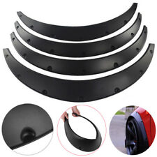 "4Pcs 3.5""/90mm Universal Flexible Car Fender Flares Body Wheel Arches Mudguards"
