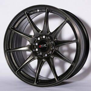 "XXR 527 18"" x 8.75J ET20 5x100 5x114.3 CHROMIUM BLACK - SET OF 4 WHEELS"