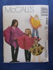 Child's poncho sewing pattern McCalls 2468 size small/ extra small