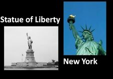 1900 Statue of Liberty PHOTO Lot, New York Harbor, 2 Pics of Lady Liberty, 1980