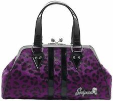 Sourpuss Temptress Purple Purse Punk Goth Rock Style Tattoo 50S Retro Handbag