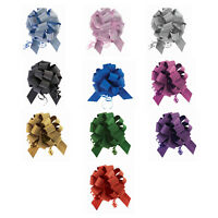 """10 Pack 5"""" No Mess Diamond Glitter Pull Bows Pew Wedding Christmas Gift Wrap"""