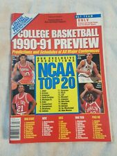 College Basketball 1990-91 Preview Magazine Stacey Augmon Steve Smith