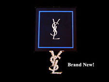 YSL Lapel Pin Brooch / Gold Bullion Wire Patch / & Metal Buttons