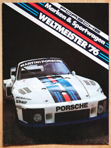 """orginal Werbeheft Prospekt """"Porsche Weltmeister"""" 1976 Martini Porsche 936 / 935"""