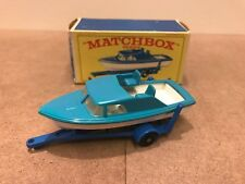 Matchbox Lesney #9 Motorboat With Trailer In Original Box