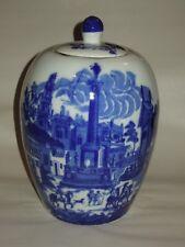 Victoria Ware Ironstone Blue Cobalt Urn/Vase/Jar with Lid