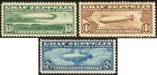 C13-C15 & C18, VF OG NH SET OF ZEPPELINS - LB