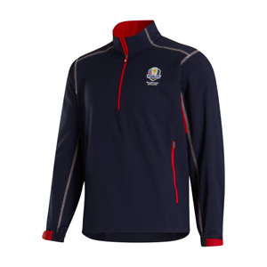 Footjoy Men's Golf Windshirt Pullover Zip 1/2 Ryder Cup Whistling Straits 2020