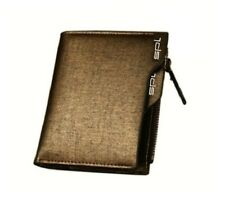 Golden Leather Bifold Wallet Credit Card Holder for Men's