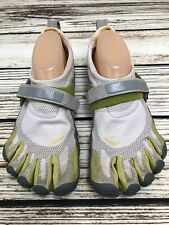 Mens VIBRAM FIVE FINGERS M345 Gray/Green Barefoot Running Shoes SIZE 42 US 9-9.5