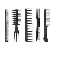 SALON COMB HAIRDRESSING WIDE TOOTH DETANGLER HAIR BRUSH COMBS SET