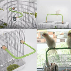 Parrot Rope Hanging Braided Budgie Bird Cage Cockatiel Toy Pet Stand Accessories