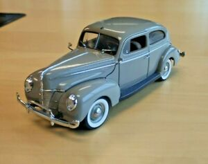 1940 FORD TUDOR GRAY SEDAN LIMITED EDITION  DANBURY MINT, NO BOX, NO TITLE