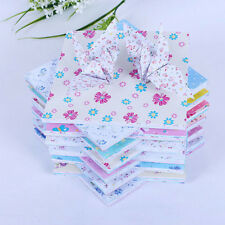72 Sheets Floral Square Folding Crane Origami Chiyogami Craft Lucky Wish Paper.