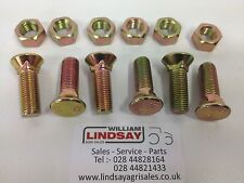 Pack Of 6 Plough Grubber Cultivator Counter Sunk Square Head Bolt M12 x 50