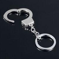Top Sale Silver Metal Keyfob Gift Gadget Keyring Mini Size Keychain Handcuffs