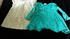 Small bundle Baby Girls Clothes 12-18 Months Flower turquoise top + dress