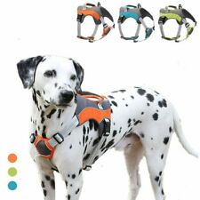 No Pull Dog Harness Adjustable Control Mesh Pet Vest Dog Reflective S-XL Leash