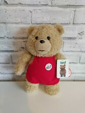 🟣 With Tags TALKING Ted, The Movie, Red Apron, 12 Inch  Bear Soft Toy R Rated