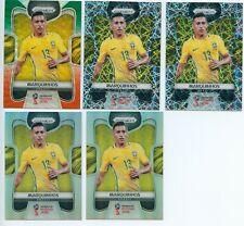 2018 Panini Prizm World Cup Marquinhos Green Orange Silver Lazer Lots*5 Brazil