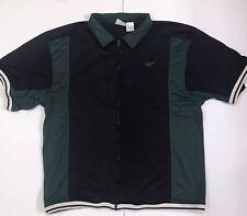 Vintage Reebok Men's Black & Green Basketball Full Zip Warm Up Top Size Xl