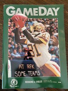 Washington Redskins Eagles 10/18/1992 GameDay Program Robert F. Kennedy Stadium